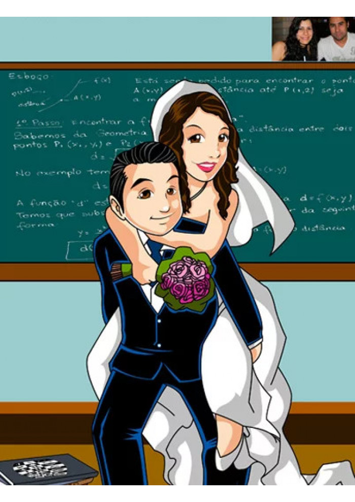 Casamento Colorido (Vetor)